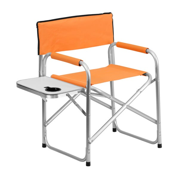 Offex Aluminum Folding Lightweight Camping Chair With Table And Drink Holder