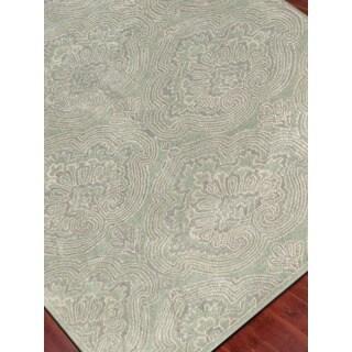 Hand Tufted Ezekiel Green Blended New Zealand Wool Area Rug (2' x 3')