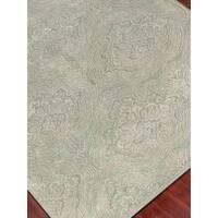 Hand Tufted Ezekiel Green Blended New Zealand Wool Area Rug - 2' x 3'