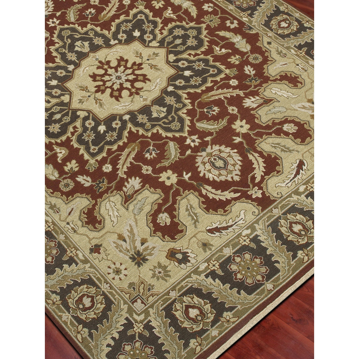 Hand-Woven Montara Red Cocoa / Brown Handspun Wool Rug (2...