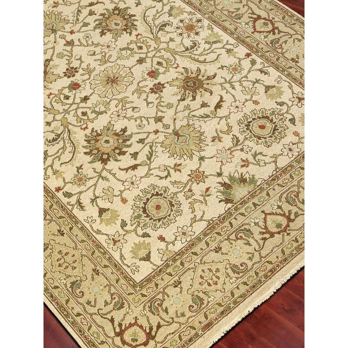 Hand-Woven Montara Ivory / Gold Handspun Wool Rug (2' x 3...