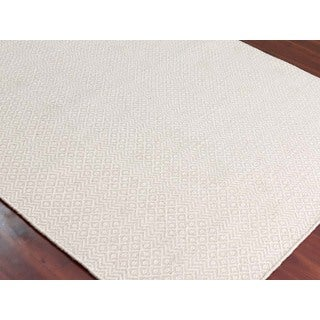 Hand-Woven Broadmoor Ivory Wool and Cotton Durry Area Rug (2' x 3')
