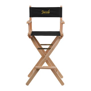Offex Embroidered Bar Height Portable Directors Chair