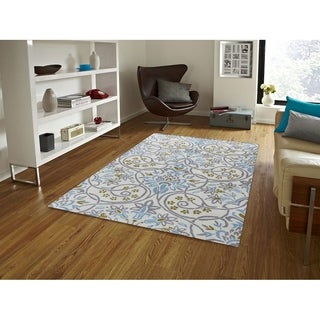 Hand-Tufted Gabriel Ivory Blended New Zealand Wool Area Rug, (2'x3')