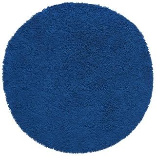 Blue Shag Rugadelic Chenille Twist Round Shag Rug (2'x2')