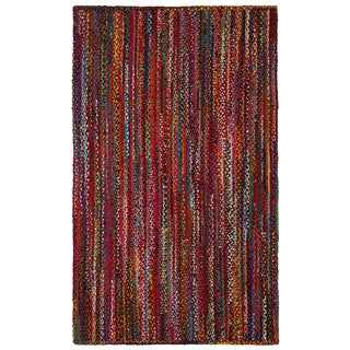 Brilliant Ribbon Multi Colored Rug (5'x8')