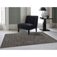 Hand-Tufted Ezekiel Dove Grey Blended New Zealand Wool Area Rug (7'6 x 9'6)