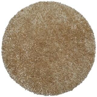 Beige Shimmer Shag Rug (5'x5')