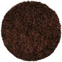 Brown Shimmer Shag Rug (5'x5')