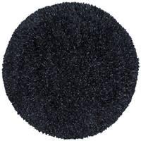 Black Shimmer Shag Rug (5'x5') - 5'x5'