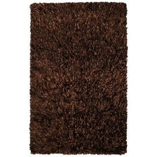 Brown Shimmer Shag Rug (4'x6') - 4' x 6'