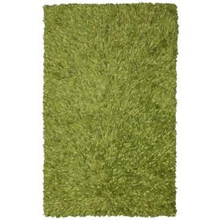 Green Shimmer Shag Rug (4'x6')
