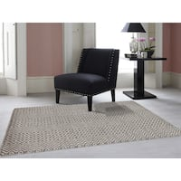 Hand-Woven Broadmoor Beige Wool and Cotton Durry Area Rug - 8' x 10'