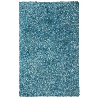 Aqua Shimmer Shag Rug (4'x6') - 4' x 6'
