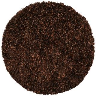 Brown Shimmer Shag Rug (3'x3')