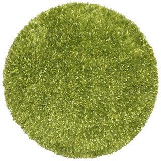Green Shimmer Shag Rug (3'x3')