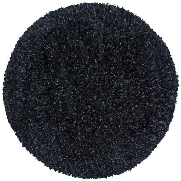 Plush Shimmer Rug: Shop Black Shimmer Shag Rug