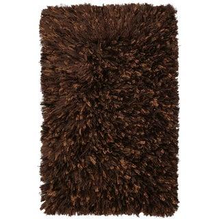 Brown Shimmer Shag Rug (30 x 50-inch)