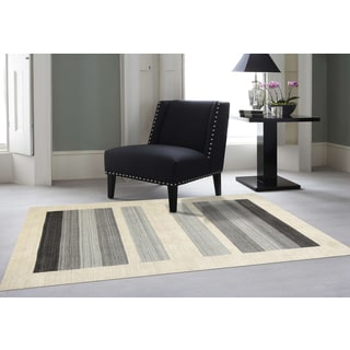Hand-Woven Berkley Charcoal Blended New Zealand Wool and Art Silk Area Rug 9' x 12'