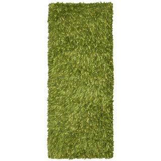 Green Shimmer Shag Rug Runner (2'x5')