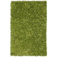 Green Shimmer Shag Rug (21 x 34-inch)