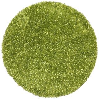 Chenille Green Shag Rug 5 Round 11961785 Overstock