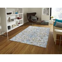 "Hand-tufted Ivory Blended New Zealand Wool Area Rug, - 7'6"" x 9'6"""