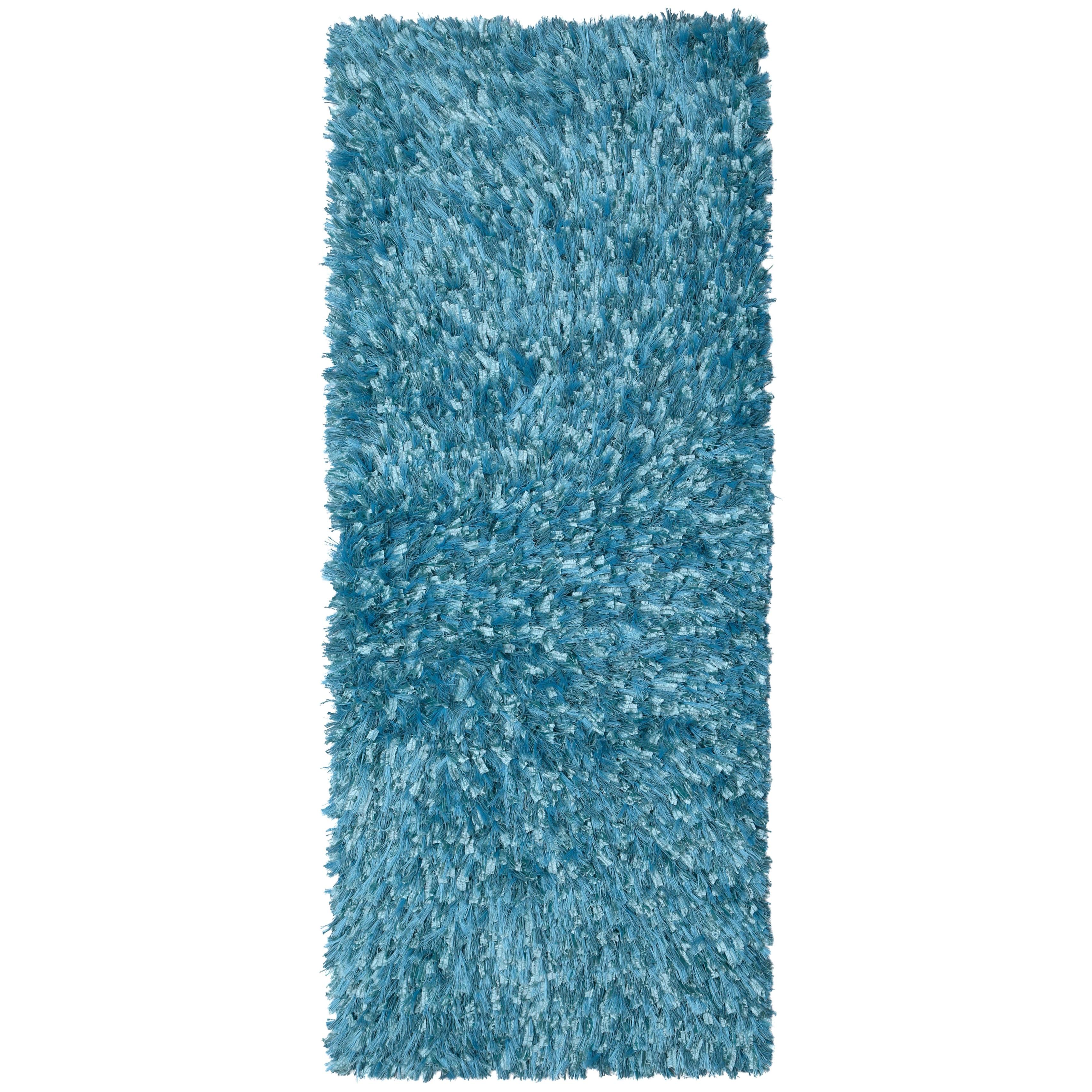 Blue Shimmer Shag Rug