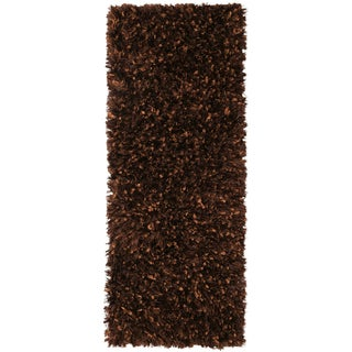 Brown Shimmer Shag Rug Runner (2'x5')