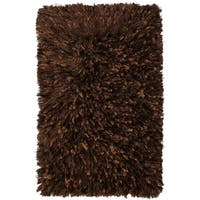 Brown Shimmer Shag Rug (21 x 34-inch)