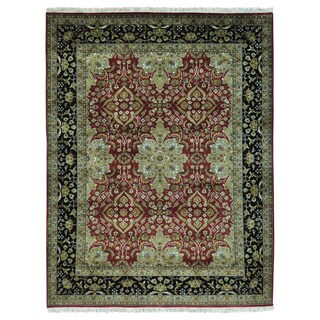 Kashan Revival New Zealand Wool 300 KPSI Handmade Rug (5'1 x 6'7)