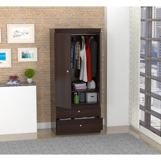 Inval Espresso-Wenge Finish Storage Armoire