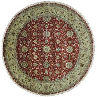Hereke Design 300 KPSI Round Wool and Silk Hand Knotted Rug (9' x 9')