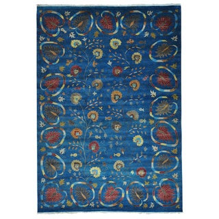 Hand Knotted Modern Pure Wool Arts and Crafts Rug (10' x 14'2)