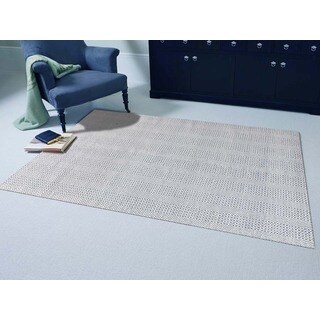 Hand-Woven Broadmoor Blue Wool and Cotton Durry Area Rug (5' x 8')