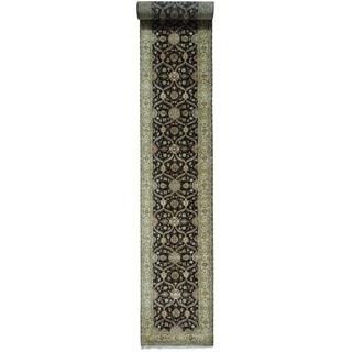 XL Runner Hereke Design 300 KPSI Wool and Silk Rug (3' x 21'8)