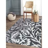 Hand-tufted Charcoal Blended New Zealand Wool Area Rug - 5' x 8'