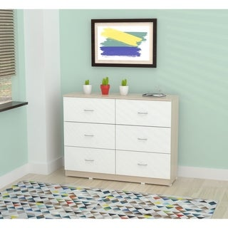 Inval Laricina-White/ Beech Six Drawer Dresser