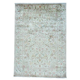 Pure Silk Maharaja Kashmir Design Hand Knotted Rug (10' x 14'2)