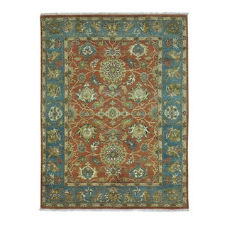 Pure Wool Antiqued Sultanabad Hand Knotted Oriental Rug (4'10 x 6'4)