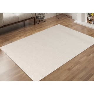 Hand-Woven Broadmoor Ivory Wool and Cotton Durry Area Rug (4' x 6')