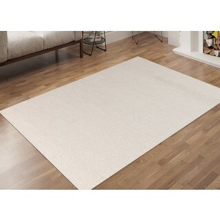 Hand-Woven Broadmoor Ivory Wool and Cotton Durry Area Rug - 4' x 6'