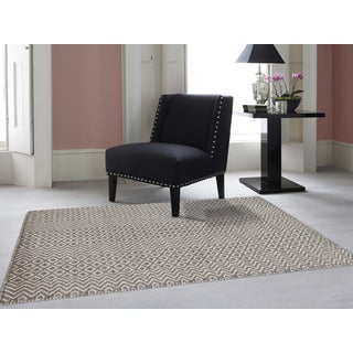 Hand-Woven Broadmoor Beige Wool and Cotton Durry Area Rug - 4' x 6'