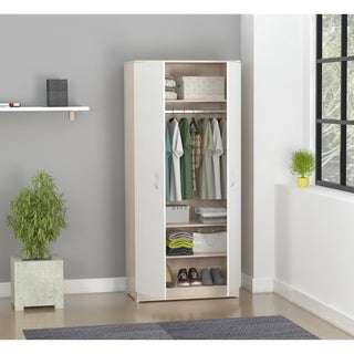 Inval Laura Laricina-White/ Beech Storage Armoire