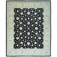 Peshawar Oversize Pure Wool Hand Knotted Oriental Rug - 13' x 16'