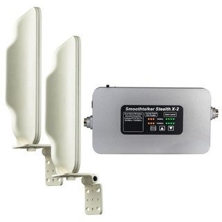Smoothtalker Stealth X2-72 Db High Power Booster For Buildings with 2 High Gain Directional Antennas