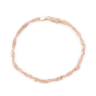 Gioelli Rose Gold over Silver Disco 7.25-inch Chain Bracelet|https://ak1.ostkcdn.com/images/products/11658779/P18589065.jpg?impolicy=medium