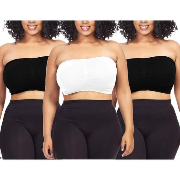 Shop Dinamit Women\'s Plus Size Black/ White Seamless Padded ...