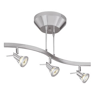 Access Lighting Versahl 3-light Matte Chrome Semi-flush