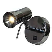 Access Lighting Cyprus 2 LED Chrome Plug-in Headboard Lamp